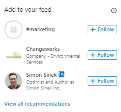 LinkedIn advertising - text ads